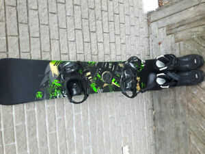 Snowboard about 6ft and size 12 mens boots