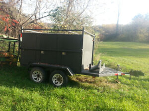 Tandem Tool Trailer with lots of tool compartments
