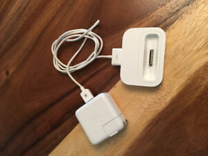iPod power supply, cord and docking station