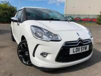 CITROEN DS3 1.6VTi 120 WHITE £23 WEEK NO DEPOSIT CD/MP3 A/C BLUETOOTH 3DT 2011