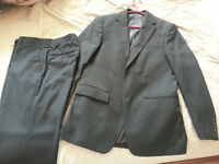 3 pc- BLACK SUIT size 38R and 31 pants size, only worn twice
