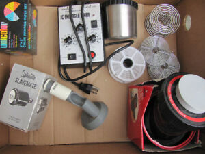 Used photography darkroom items LPL 3301D enlarger, drums, trays