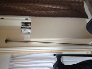 Brand New Long Curtain Rod Silver