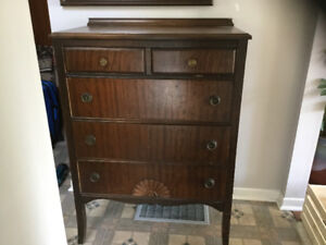 Antique solid wood dresser.