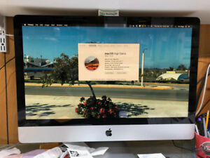 "XMAS GIFT27""imac 2011  3.4GHZ ssd+3GB HD ""MINT"""