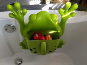 Rangement de jouets pour le bain en forme de grenouille