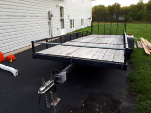 18' dual axle trailer. Suitable for two ATVs or side by sides.