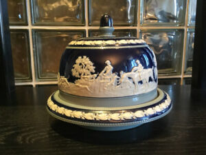 Cloche à fromage antique Wedgwood Cobalt Bleu