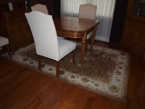 Dining Room Rug – Oriental, Brown and Cream