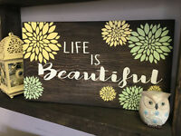 wooden sign making/painting craft class