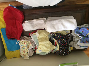 Selling cloth diapers, hardly used
