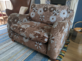 Love seat / snuggle chair / cuddle chair, used condition