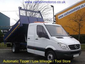 Mercedes Sprinter 516 CDi Lwb D/Cab Tipper [ Automatic ] Low Mileage 32k