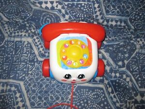 fisher price phone and stacking rings,