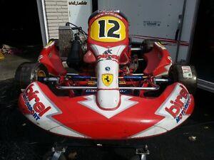 Birel 2 & 4 stroke Go Karts with race trailer