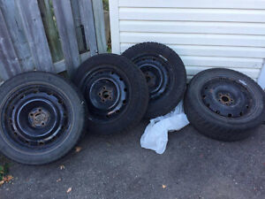 16 INCH TIRES, GOOD CONDITION, BOUGHT NEW AND USED ONE WINTER