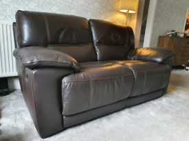 Leather recliner 2-seater sofa