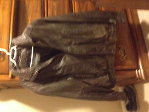Men's soft leather coat
