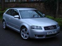 EXCELLENT MODEL 4X4!!! 2004 AUDI A3 3.2 SPORT QUATTRO 3dr, FSH, HEATED SEATS