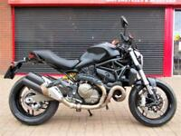 DUCATI MONSTER DARK 821 2016 ONE OWNER ONLY 610 MILES! HPI WARRANTY FINANCE M821
