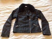 Girls biker jacket age 9-10