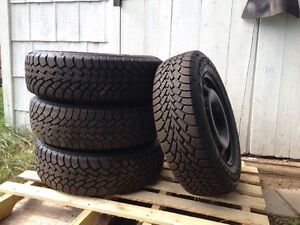 VW wheels and Goodyear winter tires!
