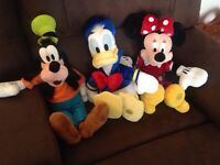 Minni Mouse, Donald Duck, and Goofy