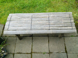 Zen Bamboo Garden/Patio Bench