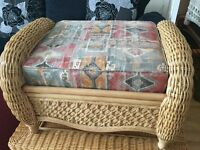 CONSERVATORY WICKER STOOL