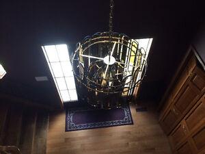 Beautiful set of antique brass ceiling lights. London Ontario image 2