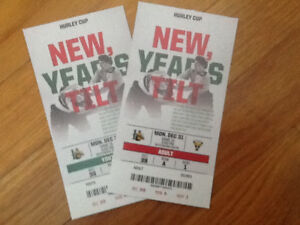 2 great tickets for halifax mooseheads game new years eve