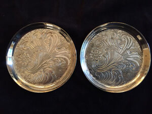 2only Vintage Silver Plated Wine Bottle Coasters