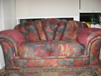 Comfy & Multicoloured Loveseat Couch