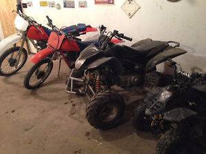 DIRT BIKES AND QUADS...OPPORTUNITY TO OWN ALL. Strathcona County Edmonton Area image 1
