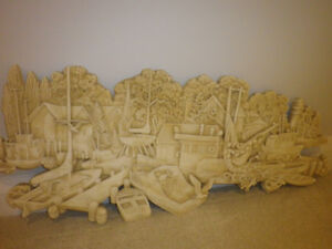 *Fishing Village, 18 inch x 40 inch in Plaster Paris