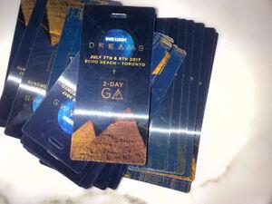 Bud Light Dreams GA 2-Day Hard Copy Tickets @ Echo Beach