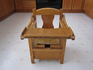 Vintage Wooden Baby Potty Chair
