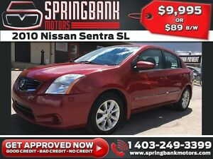2010 Nissan Sentra SL w/Sunroof, Leather, Navi $89B/W INSTANT AP