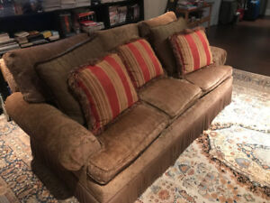 Sofa and Love seat in excellent condition with accent pillows