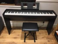 Yamaha P45 digital piano with L85 Piano stand and stool