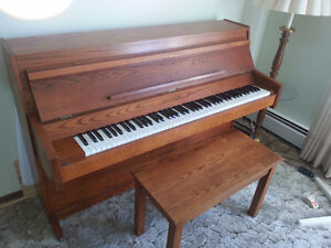Excellent Condition Laowry solid oak  piano