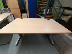 Straight desk available each