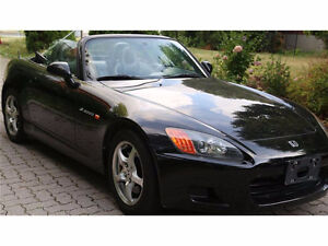 2001 honda s2000 manual black on black clean title