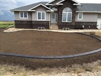 Decorative Concrete Edging and Landscaping