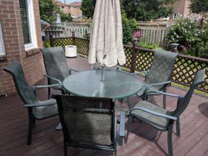 """48"""" Round Aluminum Patio Table"""