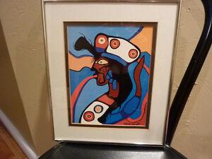 Norval Morrisseau Aboriginal Art - Framed Print