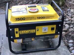 Champion Generator 1500W/1200W Like new