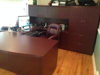 Mobilier de bureau en acajou