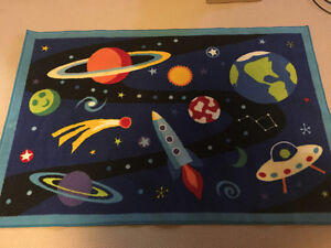 Space-themed rug