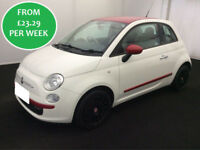 £100.93 PER WEEK Fiat 500 1.2 POP S/S Hatchback PETROL MANUAL LOW ROAD TAX!